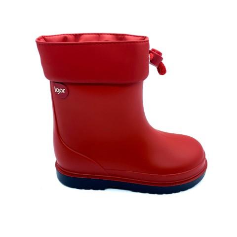 Stivali gomma rossi bambino IGOR