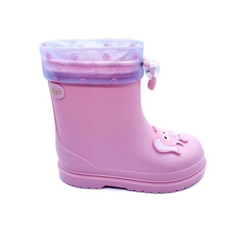 Stivali pioggia rosa bambina IGOR
