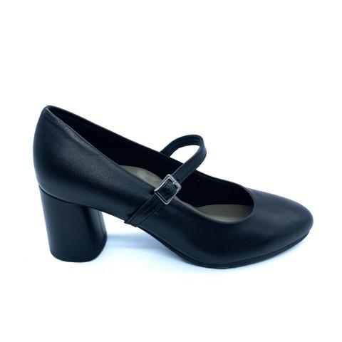 Scarpa decollètè pelle nera donna Grunland
