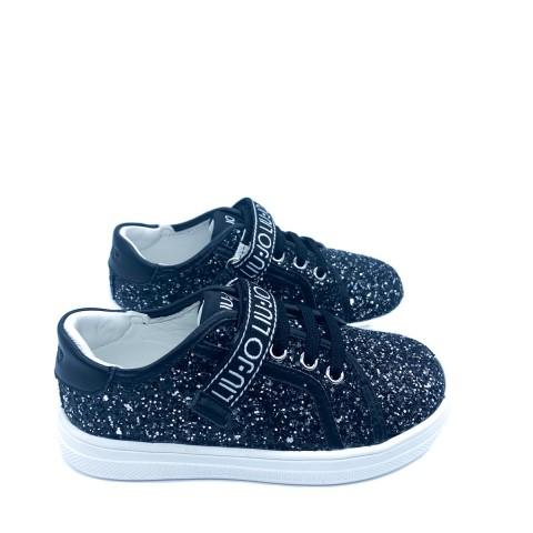 Sneakers bambina nera Liu-jo