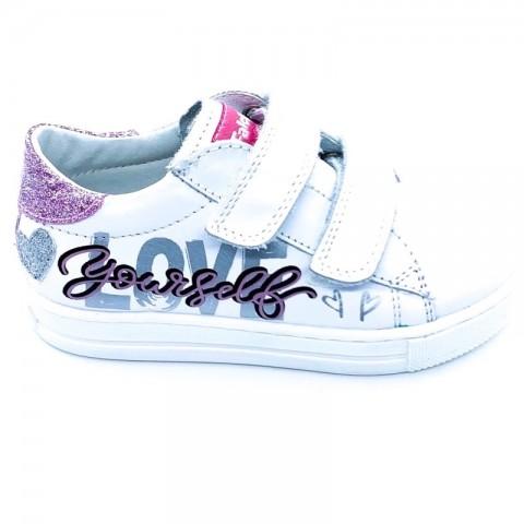 Sneaker bimba pelle bianca Falcotto