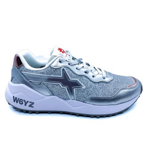 Sneaker donna argento W6YZ