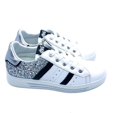 Sneakers bambina vera pelle bianca Primigi