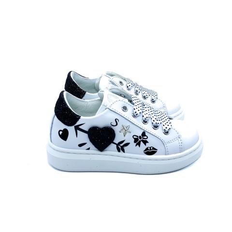 Sneaker bambina bianca Walkey
