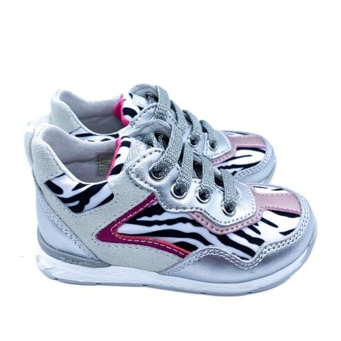 Sneaker bambina argento Falcotto