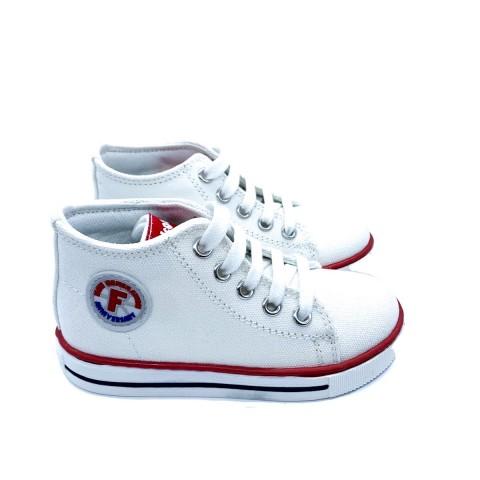 Sneaker in tessuto bianco bambino Falcotto