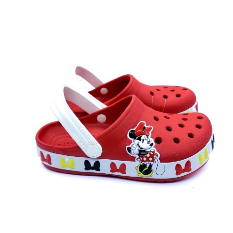 Crocs bambina rosso Disney Minnie Mouse Band