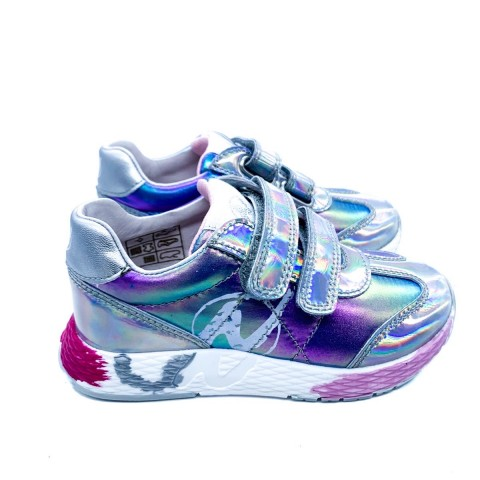 Sneaker bambina argento iridescente Naturino