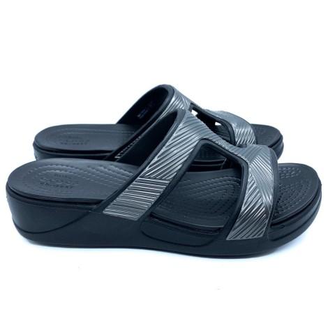 Crocs nera donna Monterey metallic