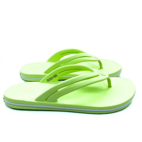 Infradito Crocband verde donna Crocs