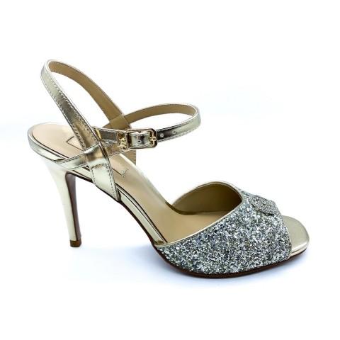 Sandali argento glitterati donna Liu-jo