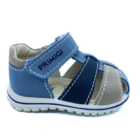 Sandalo a gabbietta azzurro bambino Primigi