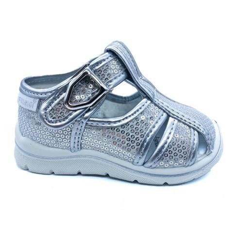 Sandalo argento gabbietta bambina Primigi