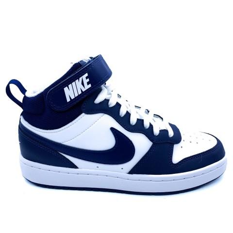 Nike unisex court mid 2 bianca e blu