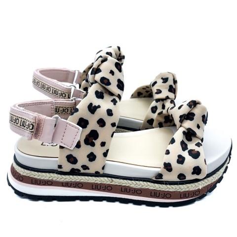 Sandalo girl Liu-Jo maculato cipria