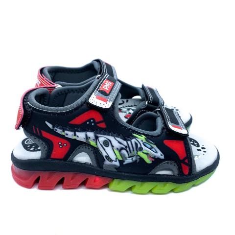 Sandalo bambino con luce Primigi nero rosso