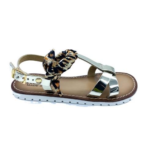 Sandalo girl Replay oro maculato