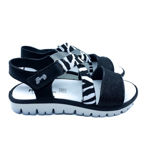 Sandalo nero bambina Primigi