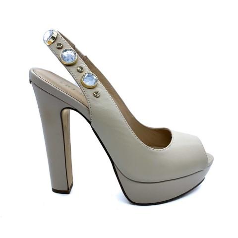 Sandalo tacco donna beige Liu-jo