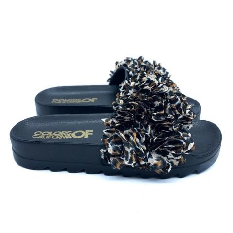 Sandalo nero donna Colors of California