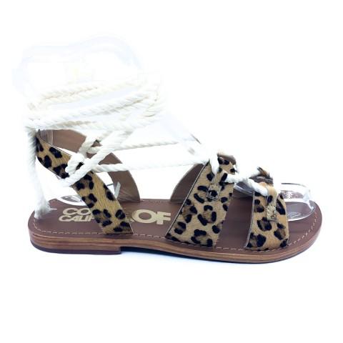 Sandalo leopardato donna Colors of California