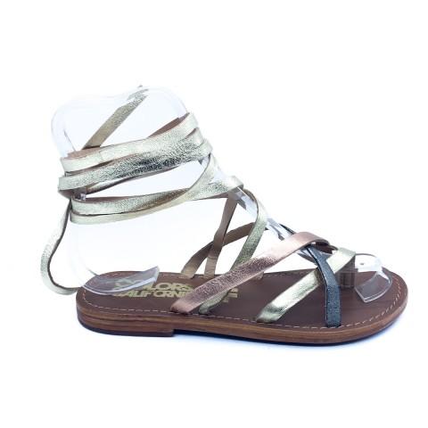 Sandalo infradito multicolor donna Colors of California