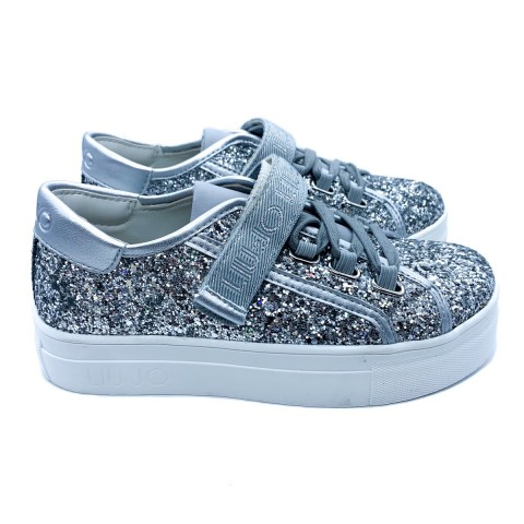 Sneakers glitter argento bambina Liu-jo