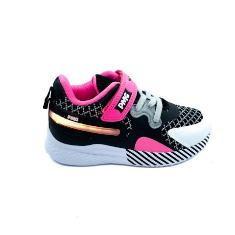 Sneaker nera con luci bambina Primigi