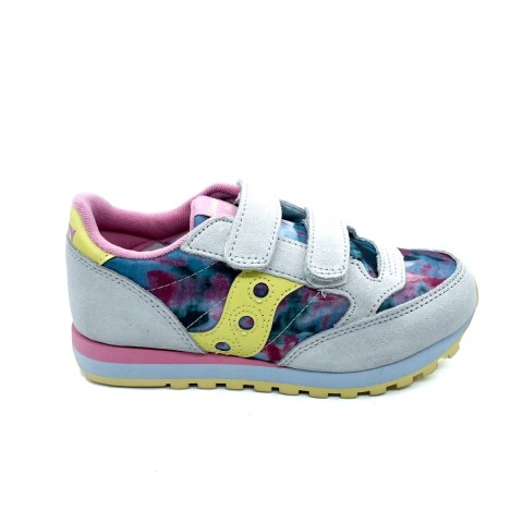 Sneaker bianca velcro bambina Saucony O' jazz