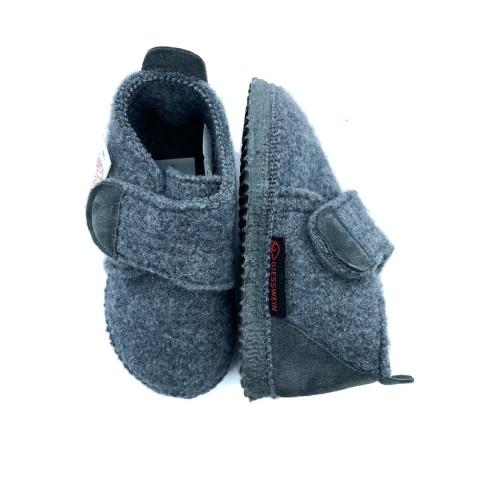 Pantofola grigia bambino Giesswein