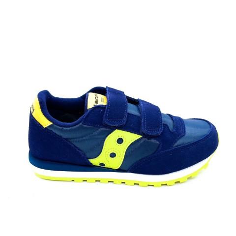 Sneaker blu velcro bambino Saucony O' jazz