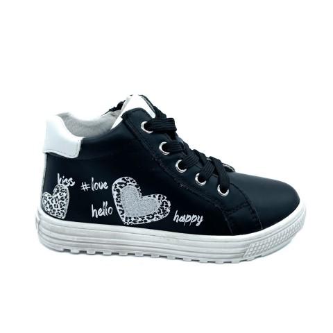 Sneaker nera bambina Naturino