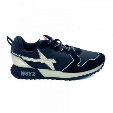 Sneakers donna in pelle e tessuto tecnico W6YZ