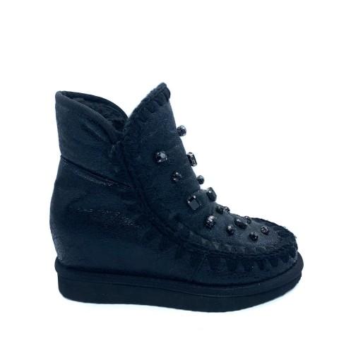 Stivaletto donna zeppa interna Bouu Shoes