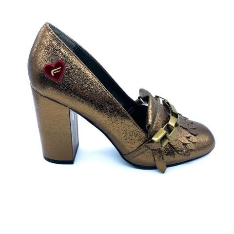 Scarpa donna tacco bronzo Fornarina