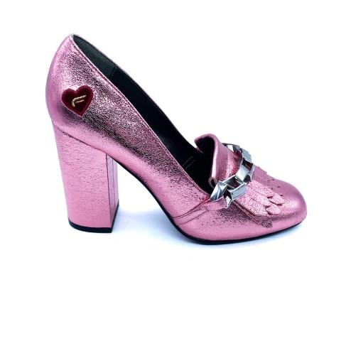 Scarpa donna rosa tacco Fornarina
